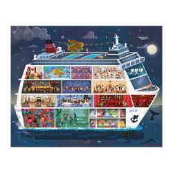 """Набор пазлов """"Морской круиз"""" большой в круглом чемодане: 2 пазла, фото , изображение 4"""
