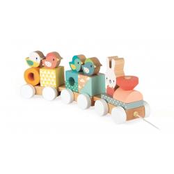 """Каталка на веревочке """"Поезд с животными""""; серия Скандинавские мотивы, фото , изображение 5"""