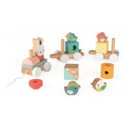 """Каталка на веревочке """"Поезд с животными""""; серия Скандинавские мотивы, фото , изображение 9"""
