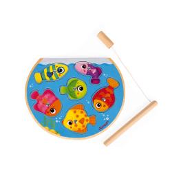 "Пазл ""Рыбалка"" магнитный: 6 рыбок, 1 удочка, фото"
