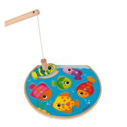 """Пазл """"Рыбалка"""" магнитный: 6 рыбок, 1 удочка, фото , изображение 2"""