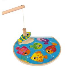 """Пазл """"Рыбалка"""" магнитный: 6 рыбок, 1 удочка, фото , изображение 3"""