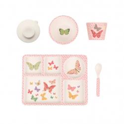 "P-MAE-YD010 Набор посуды из бамбука ""Бабочка"" 5 предметов, фото"