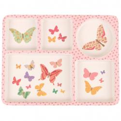 "P-MAE-YD010 Набор посуды из бамбука ""Бабочка"" 5 предметов, фото , изображение 4"