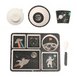 """P-MAE-YD025 Набор бамбуковой посуды """"Космические приключения"""", 5 предметов, фото , изображение 2"""