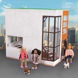 Дом для куклы с аксессуарами; пластмассовый, фото , изображение 7