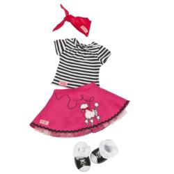 Комплект одежды с юбкой с пуделем, фото , изображение 2