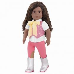 OG31174 Кукла мулатка 46 см Мануэлла; наездница, фото