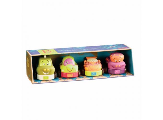 Набор из 4 игрушечных машинок B.Toys (Battat) «Wheeee-ls», фото , изображение 2