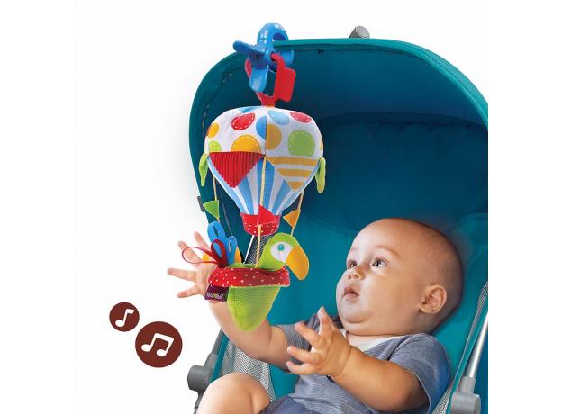 Игровой набор Yookidoo «Попугай на воздушном шаре» погремушка и прорезыватель, фото