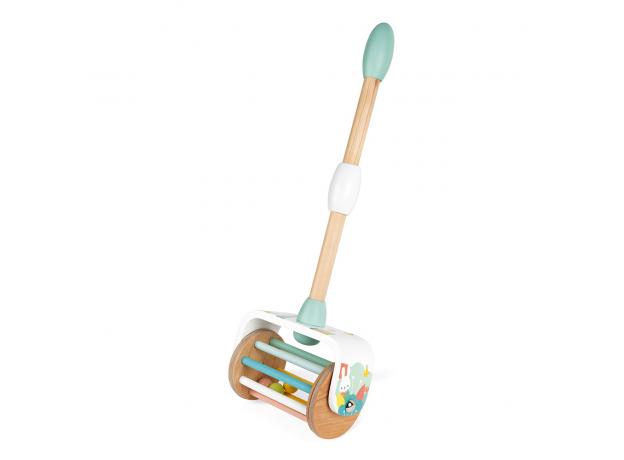 Каталка с ручкой Janod «Веселые шарики»; серия «Скандинавские мотивы», фото , изображение 2