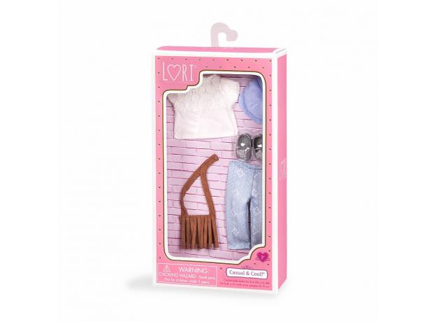 Комплект одежды для куклы Lori с сумочкой , фото , изображение 3