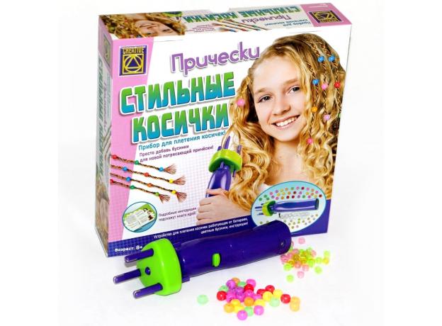 Набор для творчества CREATIVE TOYS LTD 5832 Стильные Косички с машинкой для плетения, фото , изображение 2