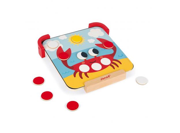 Сортер-игра Janod с магнитными элементами; серия «Я учу цвета», фото , изображение 5