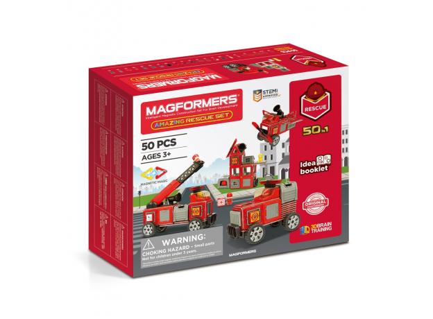 Магнитный конструктор MAGFORMERS 717003 Amazing Rescue Set, фото