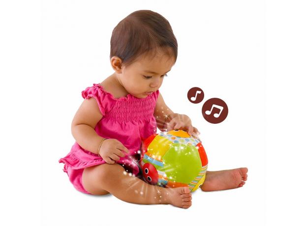 Музыкальный мяч с огоньками Yookidoo, фото , изображение 3
