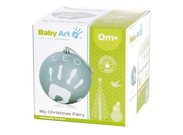 Новогодний шар Baby Art с отпечатком бирюзовый, фото , изображение 2