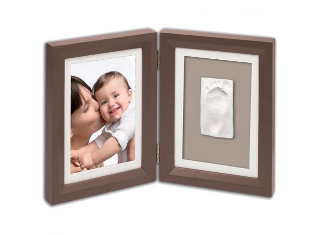 Рамочка двойная Baby Art; шоколад, фото