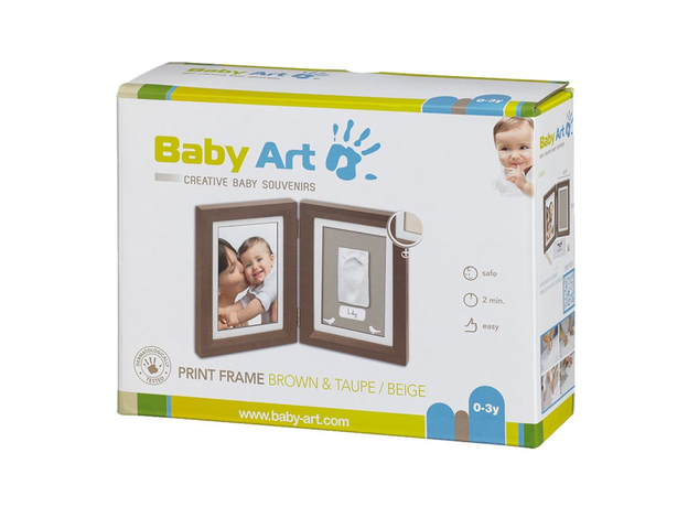 Рамочка двойная Baby Art шоколад, фото , изображение 2