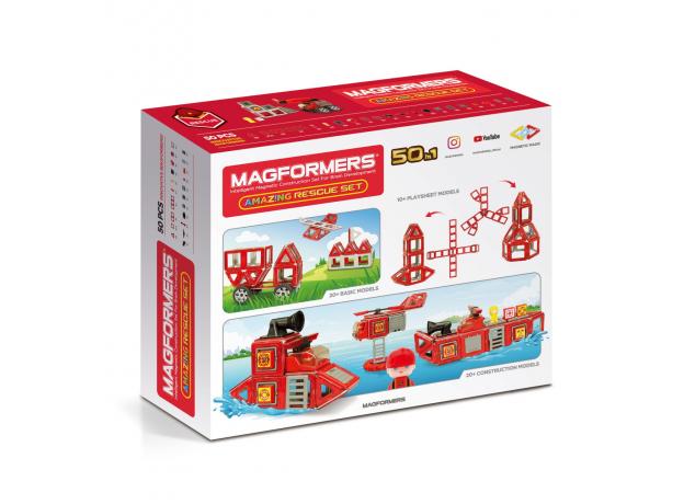 Магнитный конструктор MAGFORMERS 717003 Amazing Rescue Set, фото , изображение 15