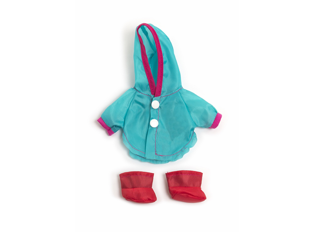 31676 MINILAND Одежда для куклы 21см RAINCOAT + BOOTS, фото