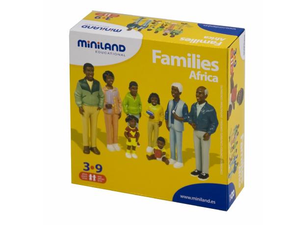 27396 MINILAND Набор фигур. Африканская семья, фото
