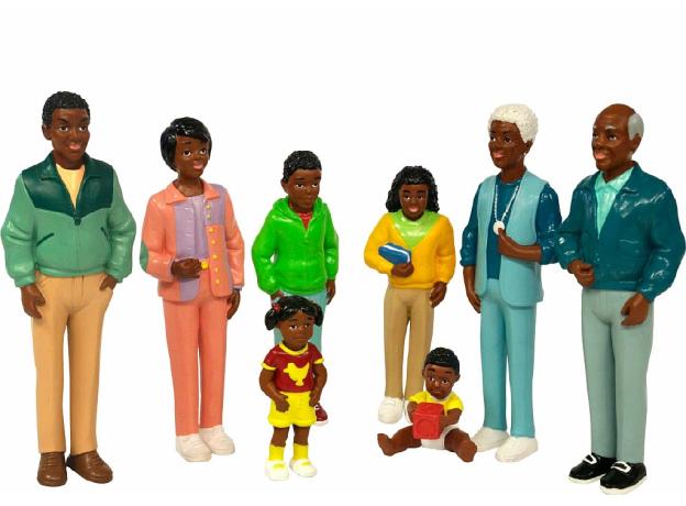 27396 MINILAND Набор фигур. Африканская семья, фото , изображение 2