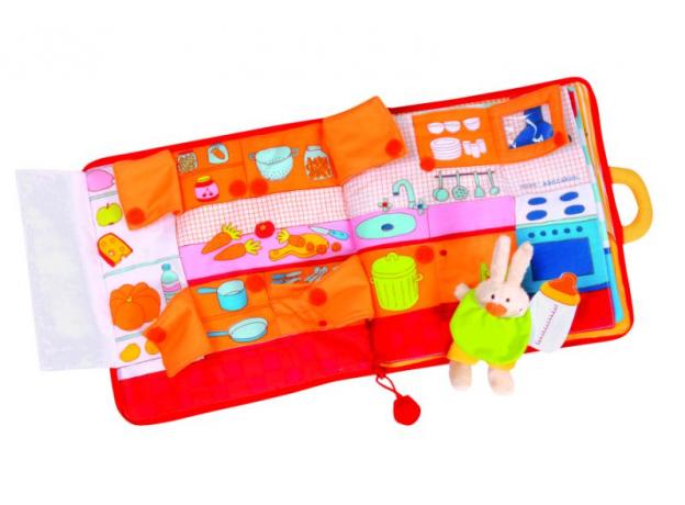 Мягкая игрушка-книжка Lilliputiens «Кролик ложится спать» , фото , изображение 2