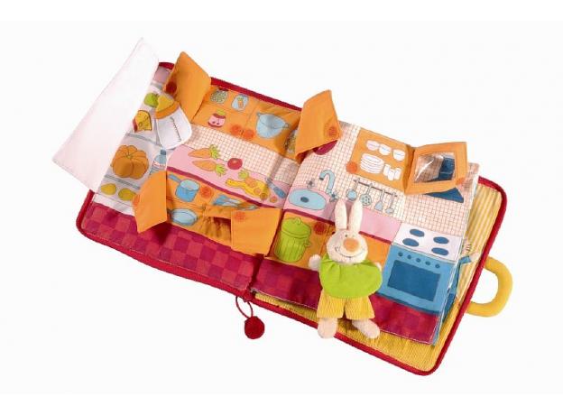 Мягкая игрушка-книжка Lilliputiens «Кролик ложится спать» , фото , изображение 3