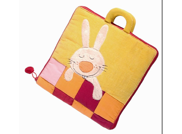 Мягкая игрушка-книжка Lilliputiens «Кролик ложится спать» , фото