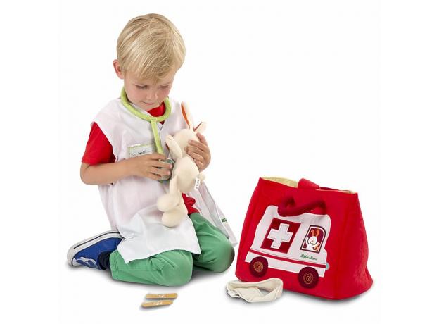 Игровой набор мягких игрушек Lilliputiens: скорая помощь, фото , изображение 2