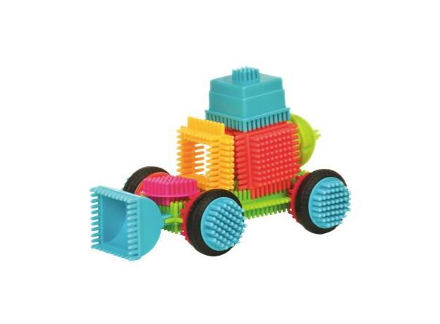Конструктор игольчатый в чемонданчике Bristle Blocks (Battat), 85 деталей, фото , изображение 2