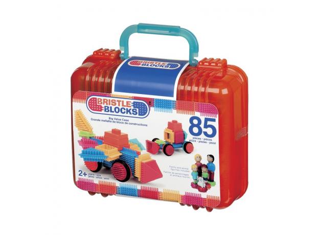Конструктор игольчатый в чемонданчике Bristle Blocks (Battat), 85 деталей, фото , изображение 4