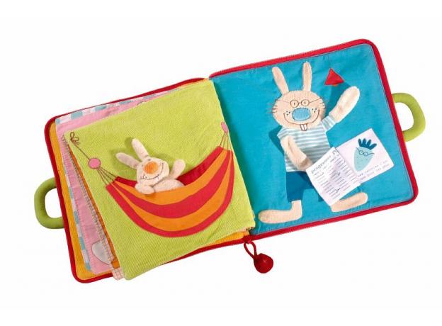 Мягкая игрушка-книжка Lilliputiens «Один день кролика» , фото , изображение 2