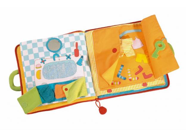 Мягкая игрушка-книжка Lilliputiens «Один день кролика» , фото , изображение 3