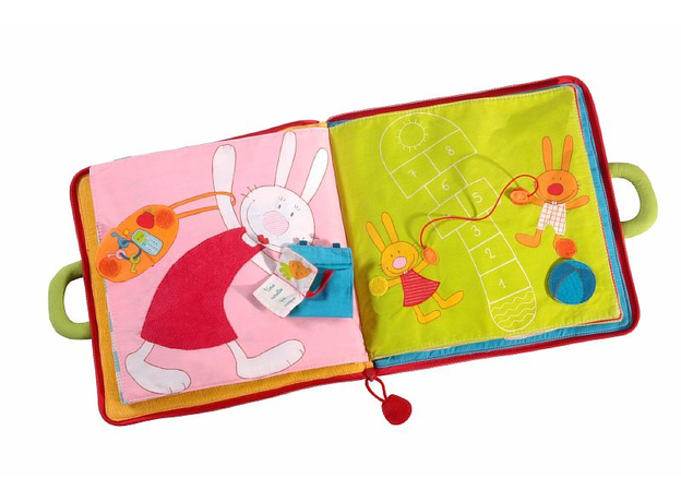 Мягкая игрушка-книжка Lilliputiens «Один день кролика» , фото , изображение 4