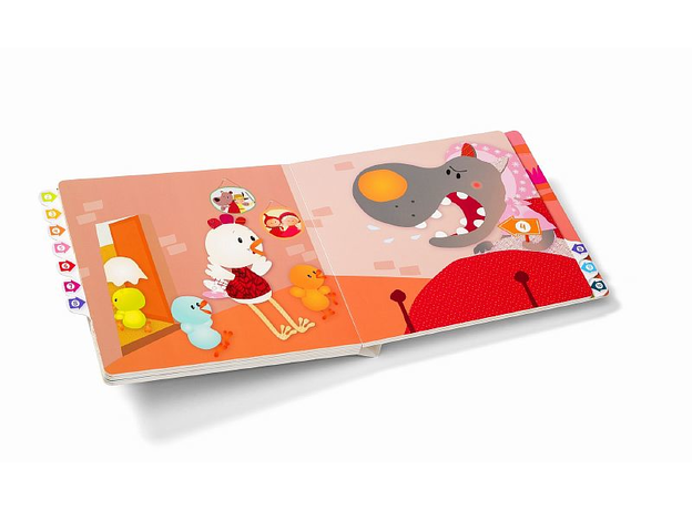 Развивающая интерактивная книжка-лабиринт Lilliputiens «Курочка Офелия», фото , изображение 3