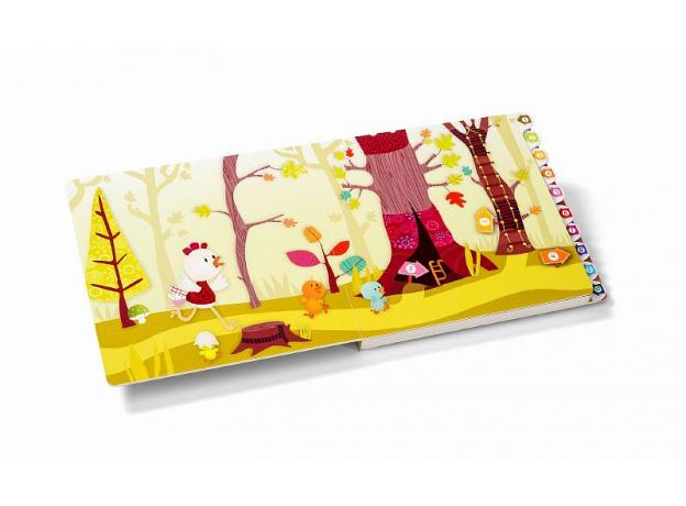 Развивающая интерактивная книжка-лабиринт Lilliputiens «Курочка Офелия», фото