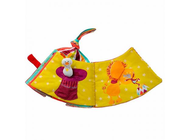 Мягкая развивающая книжка-игрушка Lilliputiens «Цирк Шапито», фото , изображение 2