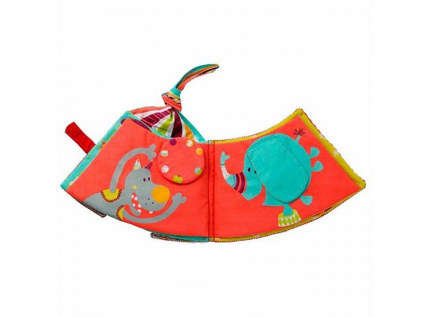 Мягкая развивающая книжка-игрушка Lilliputiens «Цирк Шапито», фото , изображение 5