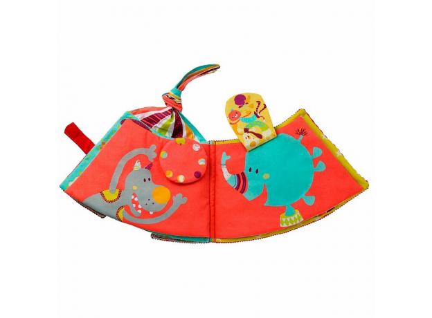Мягкая развивающая книжка-игрушка Lilliputiens «Цирк Шапито», фото , изображение 6