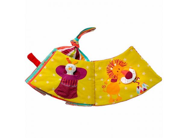 Мягкая развивающая книжка-игрушка Lilliputiens «Цирк Шапито», фото , изображение 7