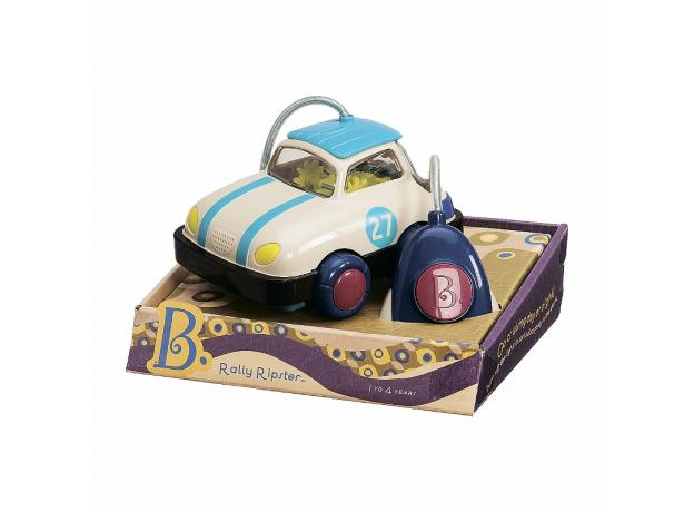 Машинка на пульте управления B.Toys (Battat) синяя, фото , изображение 2
