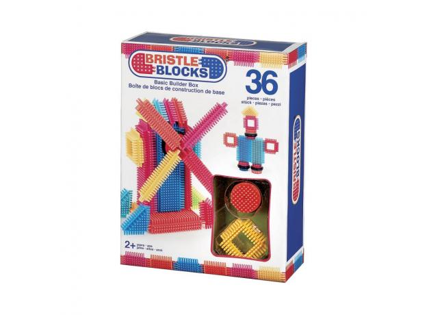 Конструктор игольчатый в коробке Bristle Blocks (Battat), 36 деталей, фото , изображение 2