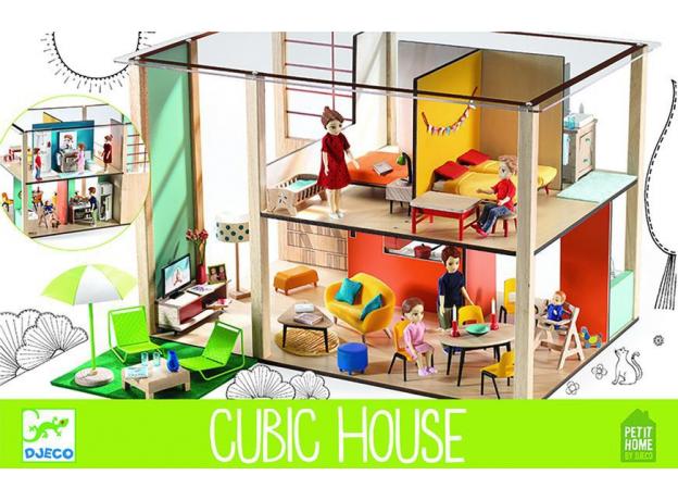 DJECO Дом-кубик для кукол 07801, фото , изображение 4