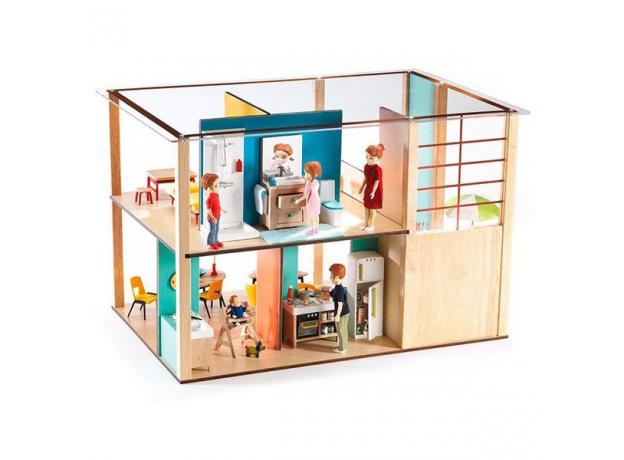 DJECO Дом-кубик для кукол 07801, фото , изображение 5