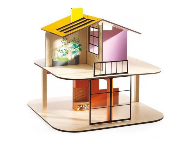 DJECO Дом цветной для кукол 07803, фото , изображение 4