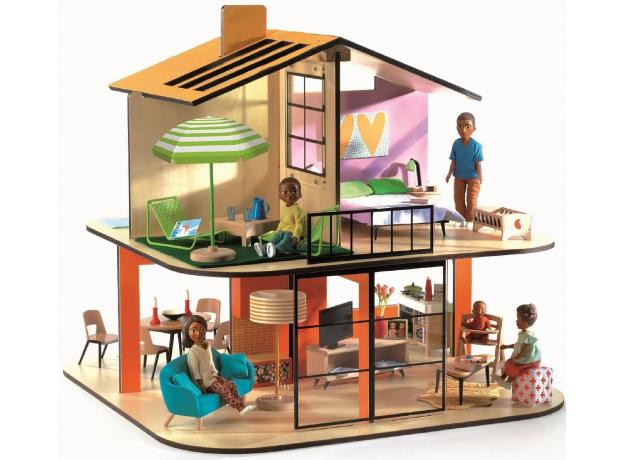 DJECO Дом цветной для кукол 07803, фото