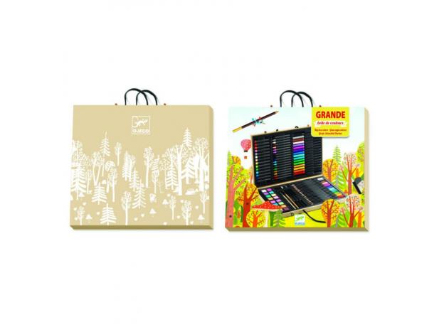 DJECO Большой набор: карандаши, фломастеры, краски, фото , изображение 3