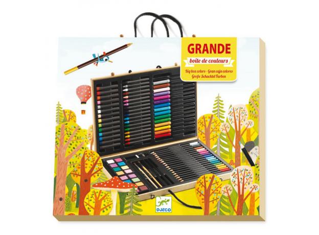 DJECO Большой набор: карандаши, фломастеры, краски, фото , изображение 4
